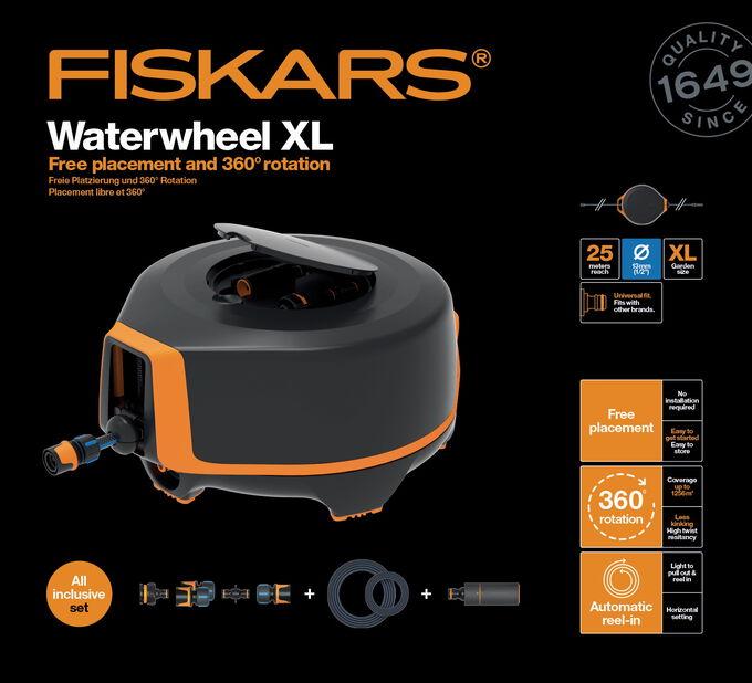 Slangbox automatic XL 20M+5M Fiskars, Längd 25 m