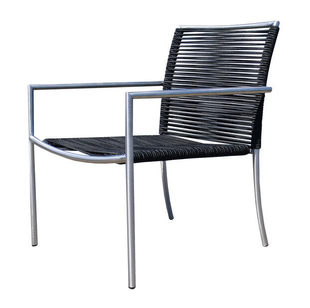 Loungestol Båstad, Bredd 56 cm, Silver