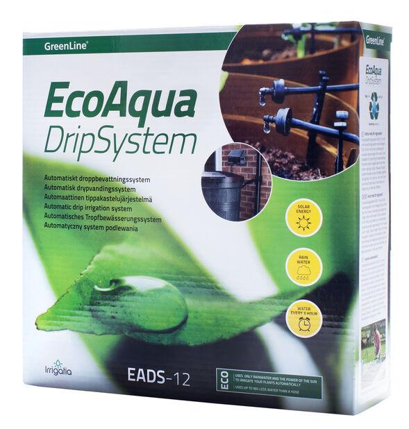 Eco Aqua automatiskt droppbevattningssystem EADS-12, Svart