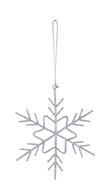 Julgranspynt Snowflake, Ø11 cm, Silver