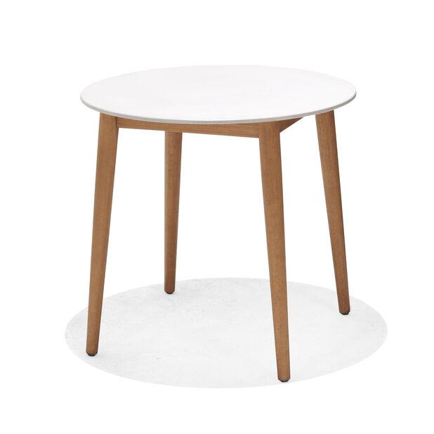 Cafébord Viborg , Ø80 cm, Vit