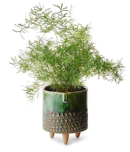Kruka på ben Wille, Ø15 cm, Grön