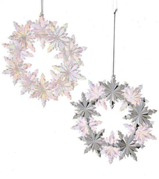 Julgranspynt Snöflingor, Höjd 13 cm, Rosa