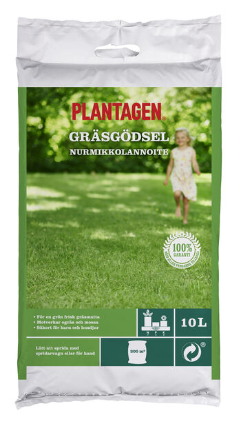 Plantagen Gräsmattegödsel, 10 L, Flerfärgad