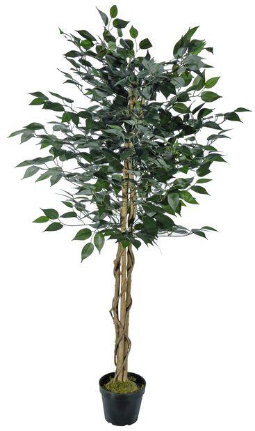 Fikusträd konstgjord, Höjd 140 cm, Grön