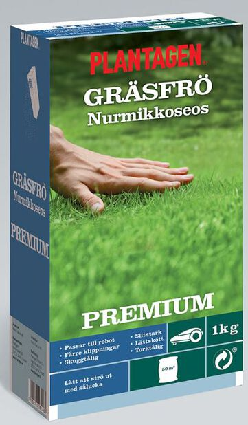 Gräsfrö Premium, 1 kg, Flera färger