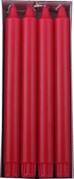 Kronljus 8-pack, Längd 24 cm, Röd